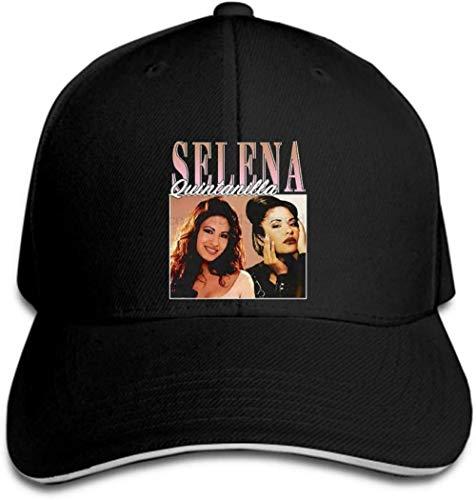 NSWZX Cap Gorras Sombrero Sombreros Gorra de béisbol Selena Quintanilla Vintage 90S Gorra Negra Sombrero con Pico Sombrero para el Sol Gorra Deportiva