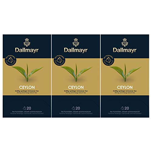Dallmayr Teepyramide Ceylon, 3er Pack (3 x 50 g)