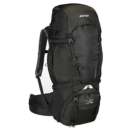 Vango Sherpa 60:70 Hiking Rucksack Shadow Black