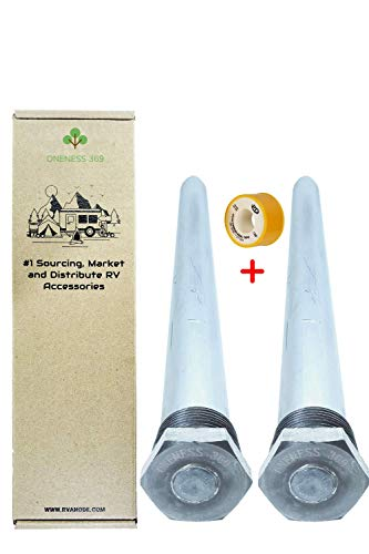 ONENESS 369 (2 Pack) Suburban RV Anode Rod Replacement Part 232767 - Magnesium - 9.25