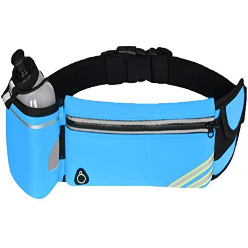 YAOBAO Sac de randonnée Sport Sac de Taille, imperméable avec Ceinture Ajustable pour randonnées de Vacances d'entraînement, Homme Femme (Bleu / 1 Paquet),Blue