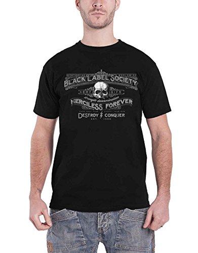 Black Label Society T Shirt Merciless Forever Band Logo Nue offiziell Herren