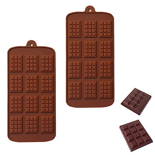 PANYUE Silicone Break Apart Chocolate Chip Mold, Non Stick Waffle Pudding Energy Bar Mold