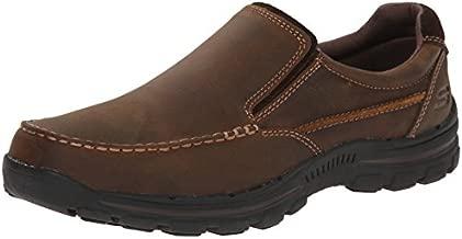 Skechers Men's Braver Rayland Slip-On Loafer,Dark Brown Leather,14 2E US