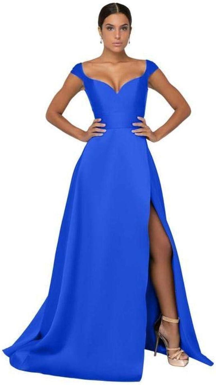 Terani Couture  1911P8153 Deep VNeck Mock Wrap High Slit Gown