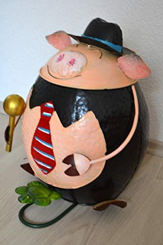 Maison en France Orgineller Tretmülleimer - lustiger robuster Mülleimer Schwein -Abfallbehälter- Papierkorb-Moderne stabile Ausführung,Preis pro Stück