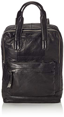 PIECES Damen Pchope Leather Backpack Rucksack, Schwarz (Black), 15x35x25 cm