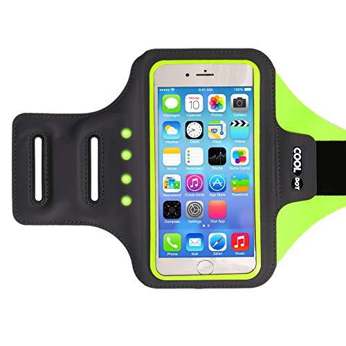 COOLDOT Brazalete Deportivo LED Soporte Teléfono Smartphone Banda Ajustable Bolsillo para Tarjeta/Llaves - Compatible iPhone 6 / 6S Samsung Galaxy S7 Móviles 6.6 Pulgadas - No Necesita Baterías