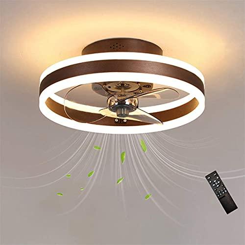 MYJHUIY ventilador de techo con luz y mando a distancia, 60 w, función verano/invierno, 6 velocidades, 50 cm de diámetro y 5 aspas