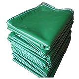 Lona alquitranada Espesor de Lluvia Toldo Cubierta Exterior Cubierta Productos Lona Verde Dobladillo de Bordes Perforación Protector Solar Lona (Tamaño : 5m×6m)
