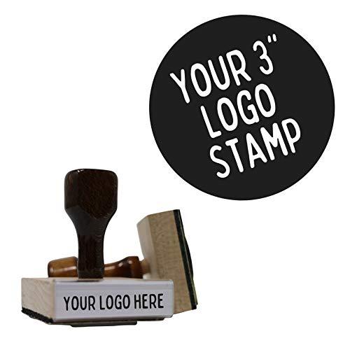 Custom Logo Stamp Hand Stamp   Multiple Size Options (3'x4')