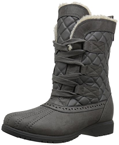Keds Women's Snowday Snow Boot,Gray,5 M US