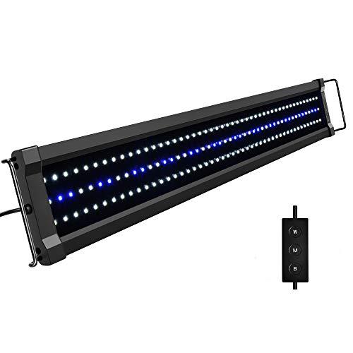 NICREW ClassicLED G2 Luz LED Acuario, Iluminación LED para Acuarios, Pantalla LED Acuario Lámpara de Planta para Pecera, 75-95 cm, 25 W,...