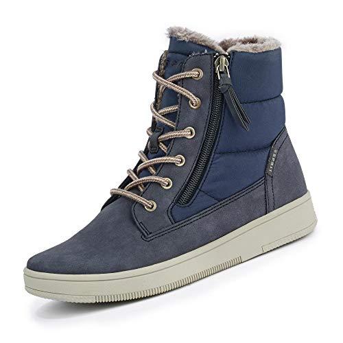 ESPRIT 099EK1W035 400 Desire Damen Warmer Boots aus Nylon mit Textilausstattung, Groesse 40, blau
