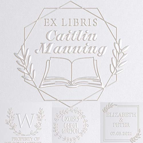 EX LIBRIS Library Book Embosser Seal Custom Personalized 5 Designs to Choose This Book Belongs to from The Library of Book Plate Book Lovers Gifts