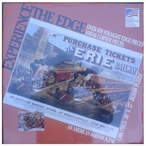 Experience the Edge 1,000 Piece Jigsaw Puzzle - An American Railway Scene at Hornellsville, Erie Railway by Great American Puzzle Factory