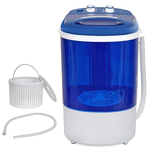 ZenStyle Compact Design Single Tub 5.7lbs Top Load Washing Machine Portable Mini 2-in-1 Washer with Timer Control and Spin Cycle Basket