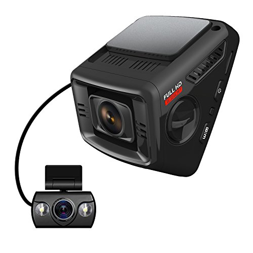 ITRUE X6D Dual Car Dash Cam Pro Stealth Full-HD 1080P 170°Wide Angle, Night Mode, G-Sensor, WDR,...