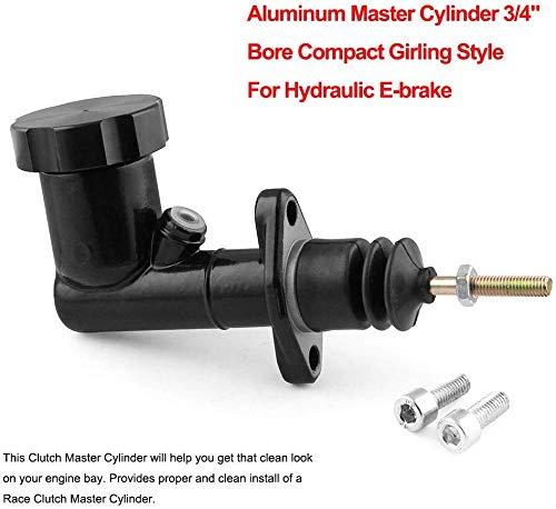 JYEEE Aluminum Handbrake Master Cylinder 0.7 Bore Compact Girling Style for Hydraulic E-Brake