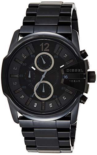 Diesel Herren Chronograph Quarz Uhr mit Edelstahl Armband DZ4180