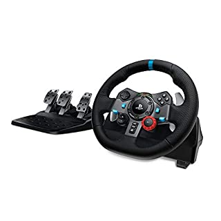 Logitech G29 Driving Force Volante da Corsa con Pedali Regolabili, Ritorno di Forza Reale, Comandi Cambio in Acciaio Inossidabile, Volante in Pelle, Spina EU, PS4 S3 C/Mac - Nero (B00YUIM2J0) | Amazon price tracker / tracking, Amazon price history charts, Amazon price watches, Amazon price drop alerts