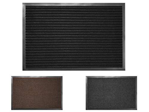 RoyalFay - Felpudo, Negro, 60 x 80 cm