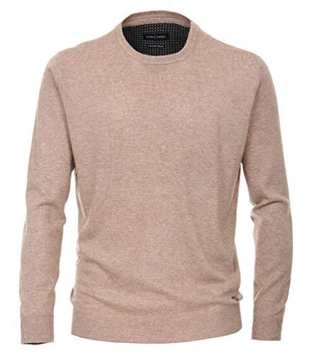 Casa Moda - Herren Pullover mit Rundhals-Ausschnitt, Cashmere Feeling (483006400), Größe:L, Farbe:Beige (616)