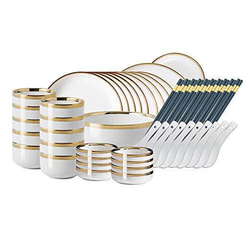 Ssrsgyp Juego De Vajilla para 10-50 Piezas Juego De Vajilla Duradero Resistente A La Decoloración Apto para Lavavajillas, Uso En Interiores Y Exteriores