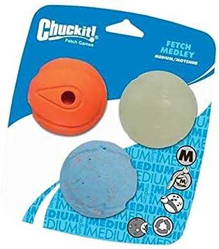 3 Pack Chuckit Fetch Medley Ball Medium