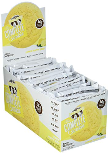 Lenny & Larry's Complete Cookie Proteinkeks Proteinriegel Eiweiß - Lemon Poppy Seed - Zitrone Mohn 12x113 g