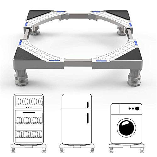 Base Lavatrice Antivibrazione Regolabile DEWEL Supporto Lavatrice Asciugatrice Acciaio Inossidabile