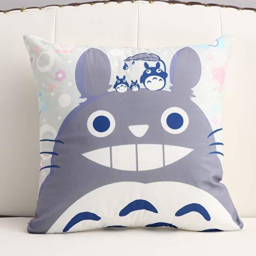 Kurzes Plüschkissen-Cartoon-bürokissen 60X60cm (Set + Kern) Glücklicher Totoro
