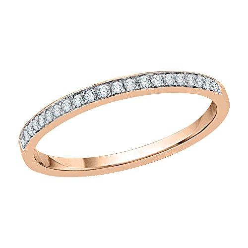 KATARINA - Alianza de boda de diamante en oro de 14 K (1/20 quilates, J-K, SI2-I1)