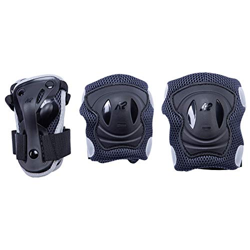 K2 Skates Damen PERFORMANCE PAD SET W, black-anthracite, S (Knee: A:34-38cm B:31-34cm / Elbow: A:21-24cm B:20-23cm / Wrist: A:18-20cm B:15-17cm)