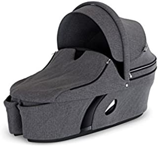 Stokke Xplory V6 Black Carry Cot, Black Melange