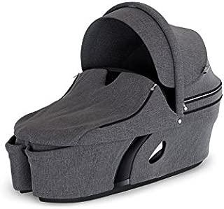 Stokke Xplory V6 Black Carry Cot, Black Melange