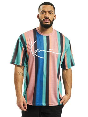 Karl Kani Herren T-Shirts Signature Stripe türkis M
