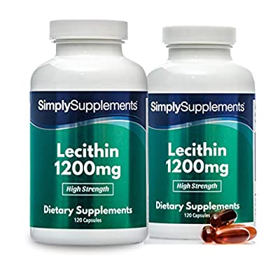 Soy Lecithin Capsules 1200mg | 120+120 (240) Capsules | 100% Money Back Guarantee | Manufactured in The UK
