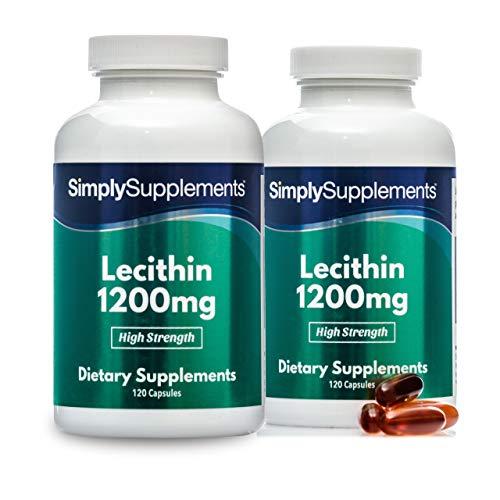 Lecithin 1200mg - GVO-frei - 240 Kapseln - SimplySupplements