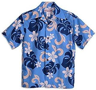 HULA KEIKI(フラケイキ)アロハシャツ【プルメリア】HK-QQ013/BLUE