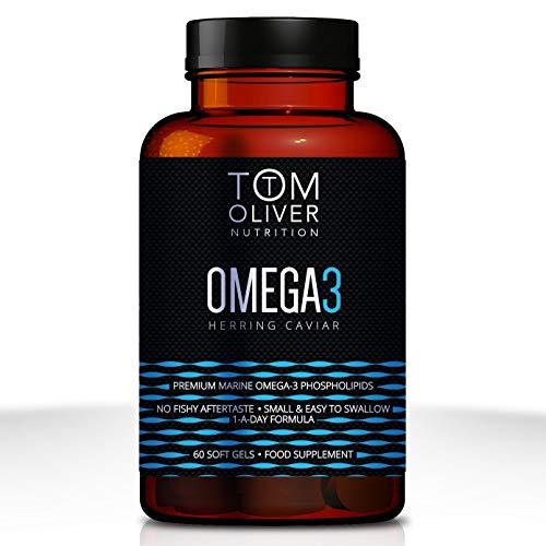 Tom Oliver Nutrition | Omega 3 Herring Caviar | Premium Marine Omega 3 Phospholipids | High in EPA and DHA (60 capsules)