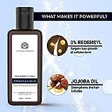 The Man Company Hair Growth Tonic with 3% Redensyl & Jojoba Oil | Promotes Strength, Volume, Controls Hair Fall - 100ml