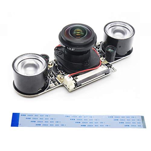 suoryisrty Raspberry Pi 3/4B Camera 5MP 1080p Night Vision Wide Angle Fisheye Webcam