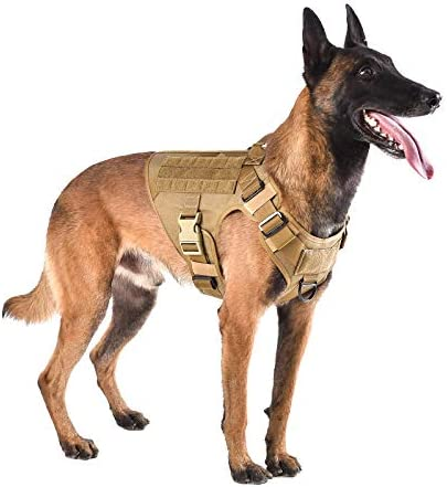 ICEFANG Lightweighting Tactical Dog Harness with Handle Working Dog Training Molle Vest No Pull product image