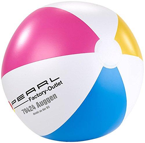 PEARL Aufblasbarer Ball: Aufblasbarer Wasserball, Mehrfarbig, Ø 33 cm (Strandball)