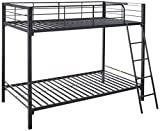 Zinus Patti Easy Assembly Quick Lock Twin over Twin Metal Bunk Bed / Quick to Assemble in Under an Hour