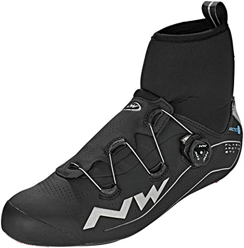 Northwave Flash Arctic GTX Negro Bicicleta de Carretera Zapatos de Invierno, Tamaño:gr. 40