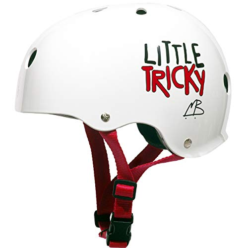 Casque de skate Little Tricky Kids Triple 8 - Blanc Glossy