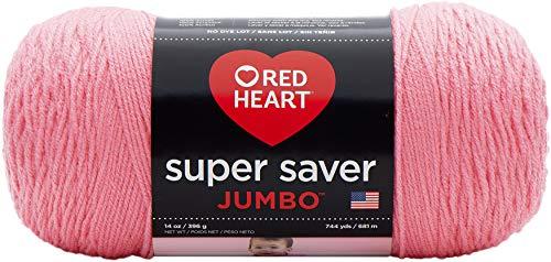 RED HEART 073650016004 Super Saver Jumbo Yarn, Perfect Pink