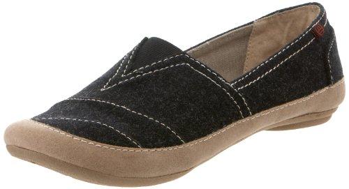 Big Buddha Women's Breez Slip-On Loafer,Black Fabric,7 M US